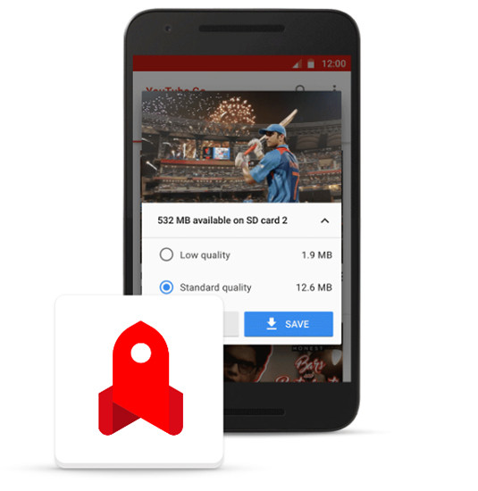 Приложение YouTube Go позволит сохранять ролики в смартфоны для просмотра в оффлайне