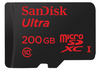 MWC 2015. SanDisk представила карту MicroSD емкостью 200 Гб