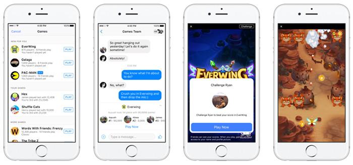 В мессенджере Facebook для iOS и Android появились игрушки