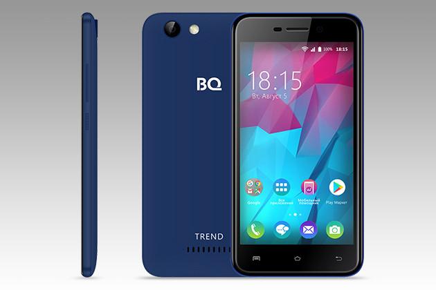 BQ-5000L Trend: смартфон с Android 7.0 Nougat за 4990 рублей