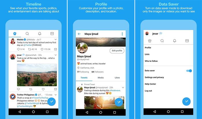 В Twitter разработали версию своего приложения для слабых смартфонов и медленного интернета