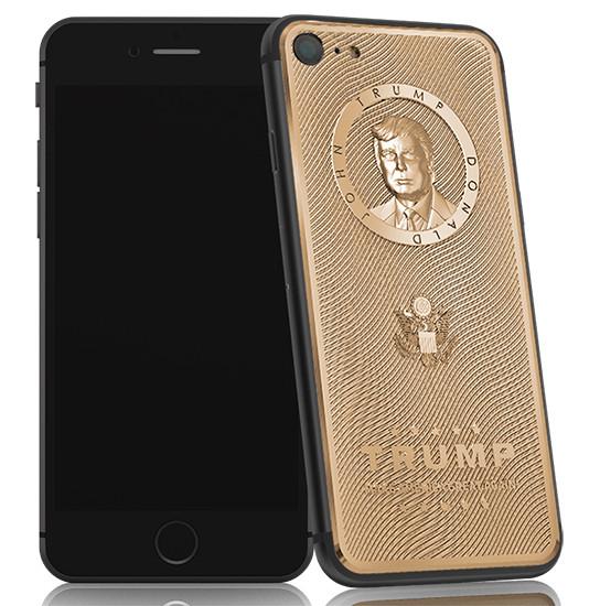 Российская компания решила подарить Трампу iPhone с его портретом