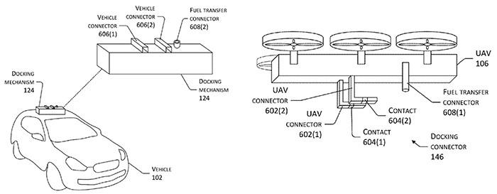 В Amazon придумали систему зарядки электромобилей с помощью дронов