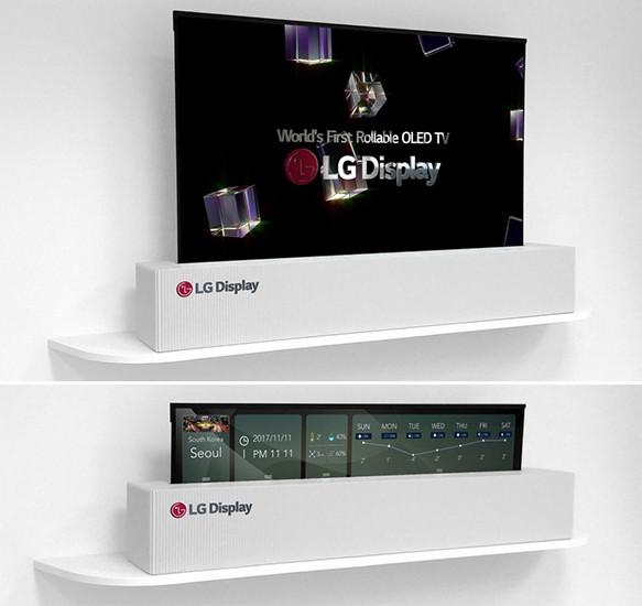 CES 2018. Гибкий 65-дюймовый телевизор LG умеет сворачиваться в рулон