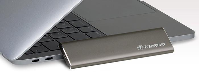 Карманный SSD-накопитель Transcend ESD250C выполнен из алюминия и оснащен портом USB Type-C