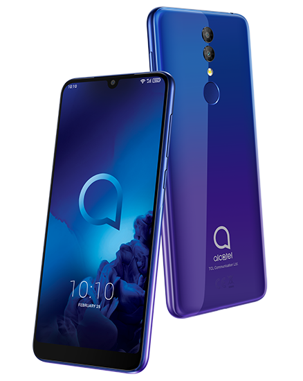 В России начинаются продажи недорогого смартфона Alcatel 3 2019 с NFC и большим экраном