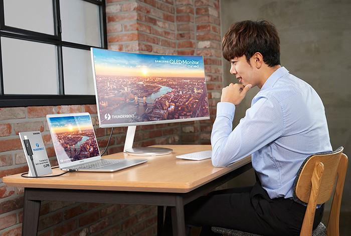 CES 2018. Samsung CJ791: первый в мире изогнутый монитор с поддержкой Thunderbolt 3