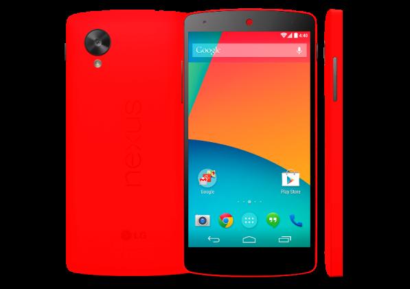 Выпущена ярко-красная версия LG Nexus 5