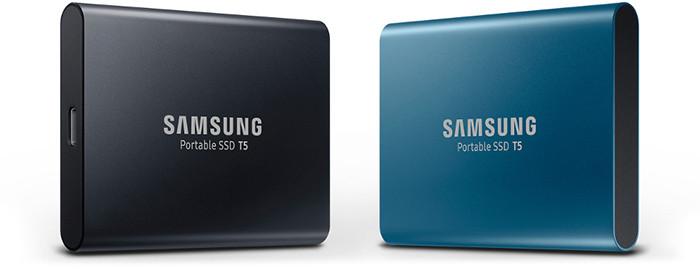 Миниатюрные SSD-накопители Samsung T5 записывают данные со скоростью до 540 Мб/с