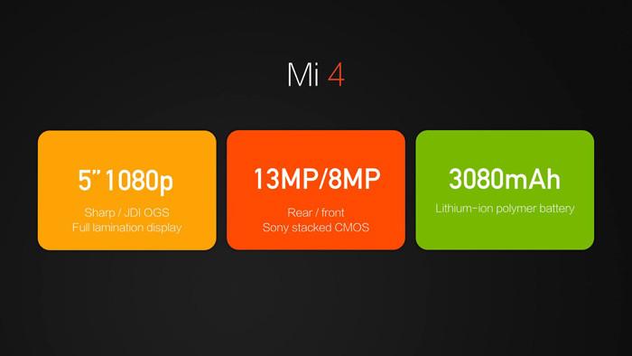В Пекине представлен флагманский смартфон Xiaomi Mi 4