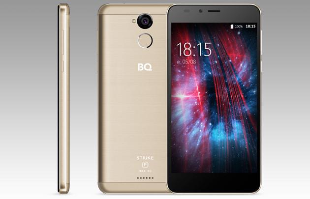 BQ-5510 Strike Power Max 4G: недорогой смартфон с Android 7.0 и батареей на 5000 мАч