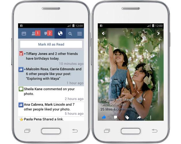 Facebook выпустила облегченную версию своего Android-приложения