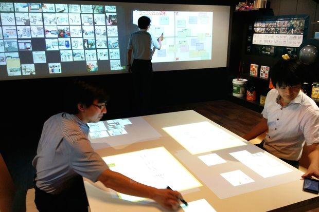 В комнате для мозговых штурмов от Fujitsu все поверхности стали интерактивными экранами