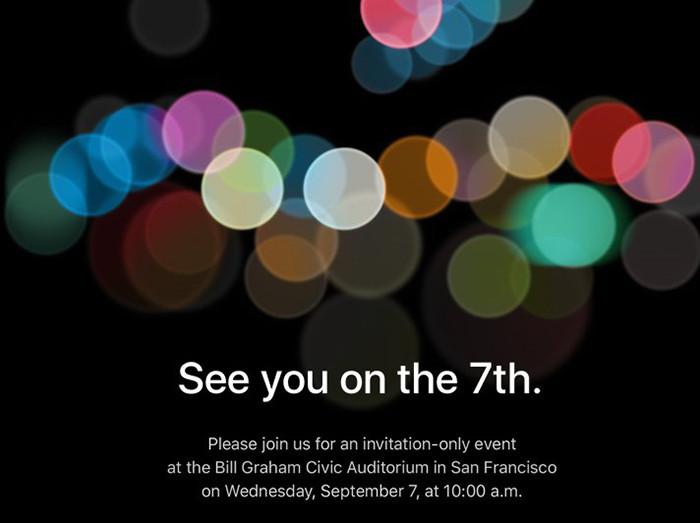 Официально: Apple представит новые модели iPhone 7 сентября