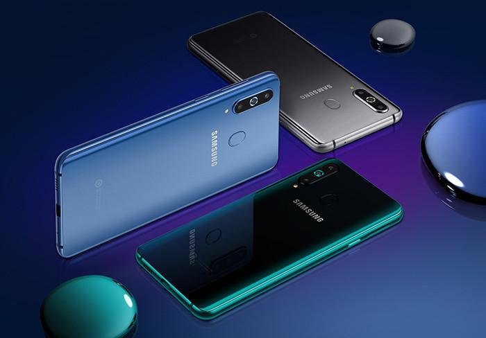 Смартфон Samsung Galaxy A8s получил экран с «дыркой» и тройную заднюю камеру. А вот 3,5-мм разъема в нем нет