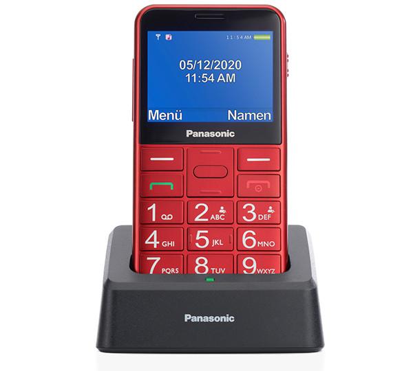 Новый японский кнопочный телефон Panasonic KX-TU155 получил настольную подставку для подзарядки