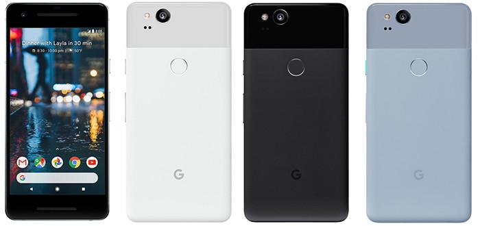Google представляет смартфоны Pixel 2 с OLED-экранами и чувствительными корпусами