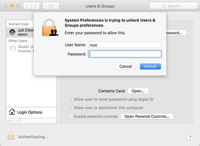 Баг в macOS High Sierra позволяет получить права суперпользователя без пароля