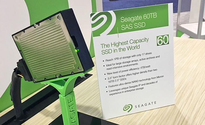 Seagate побила рекорд емкости SSD-накопителей, показав модель на 60 Тб