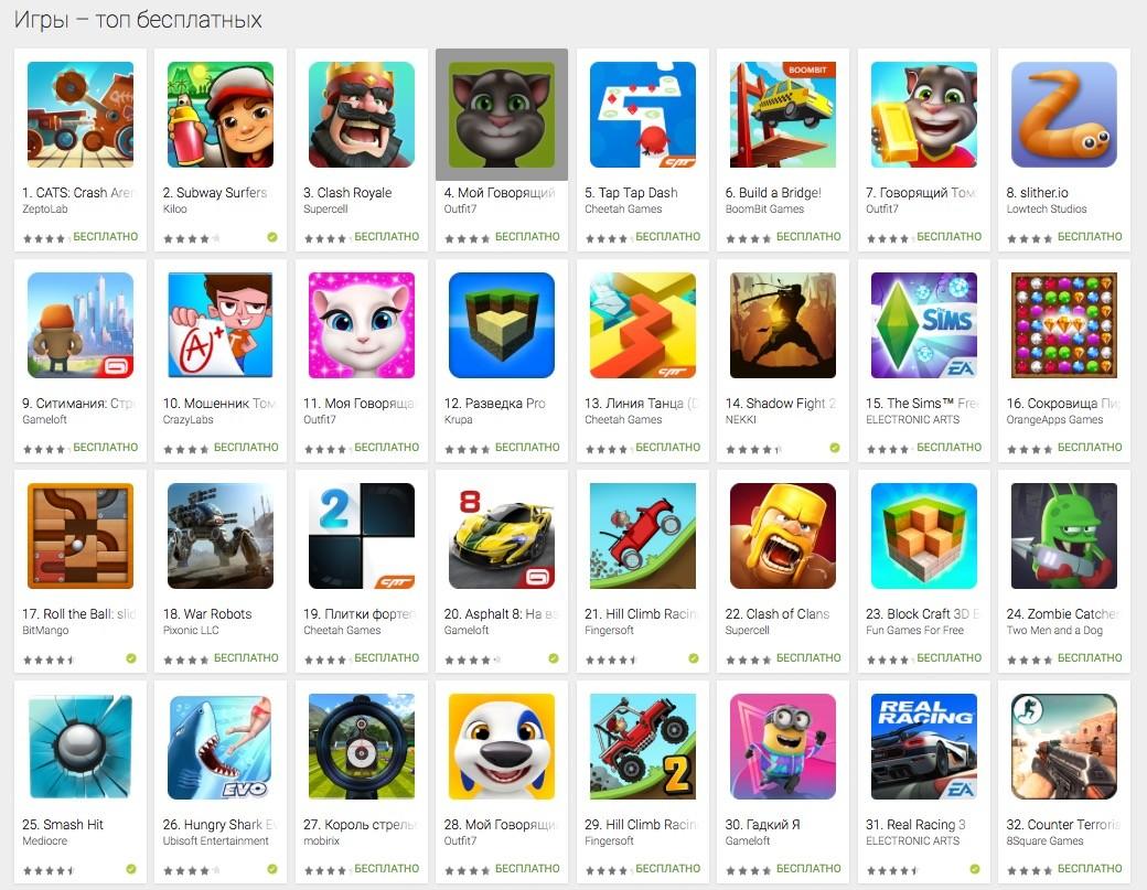 бесплатные мобильные игры