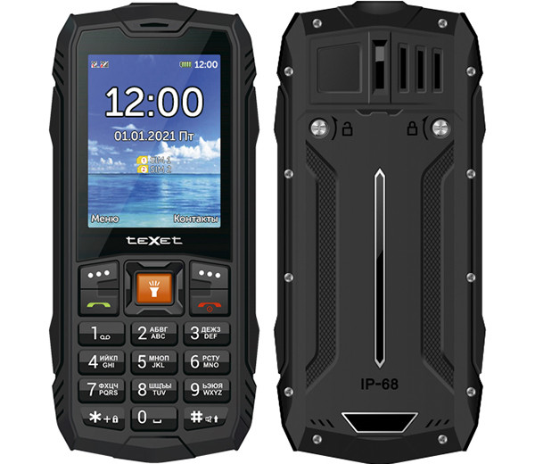 Новый мобильный телефон Texet получил защиту от воды IP68 и батарею весьма приличной емкости
