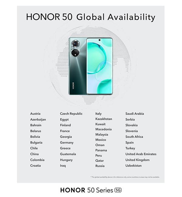 Honor пообещал привезти в Россию новейшие смартфоны серии Honor 50
